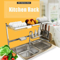 304 Stainless Steel Dish Rack Over The Sink Dish Drying Rack Holder Kitchen