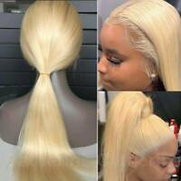 360 Lace Front Wig 9A Peruvian Raw Human Hair Full Lace Wig Blonde Straight Wavy