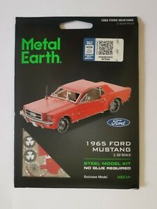 Metal Earth 1965 Ford Mustang Red model kit