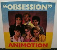 ANIMOTION OBSESSION/TURN AROUND (NM) 880266-7 45 RECORD