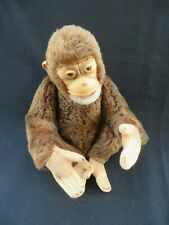 1950s Steiff Mohair Jocko Sitting Chimpanzee Monkey Jointed 13""