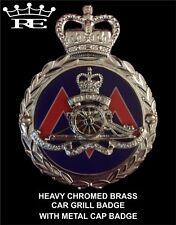 Royale Heavy Chromed Brass Car Badge - ROYAL ARTILLERY REGIMENT - B5.019 SUPERB