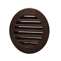"Brown Circle Air Vent Grille 100mm / 4"" Round Ventilation Ducting Cover POW26BR"