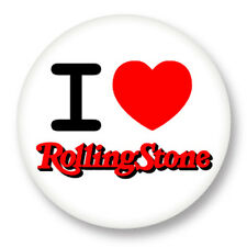 Pin Button Badge Ø38mm I Love The Rolling Stones Heart Coeur J'aime Like