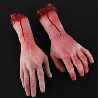 Bloody Horror Scary Halloween Prop Fake Severed Lifesize Arm Hand House - Sd
