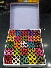 Set of Assorted 100 Tubes Spools Polyester 3 ply Sewing Machine Thread Yarn