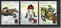 Malaysia 2007 FEI KL Grand Prix Horse Sports Horses Games stamp set 3v MNH