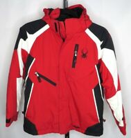 Spyder Red Boys Ski Snowboard Spylon Waterproof Insulated Hooded Jacket 12