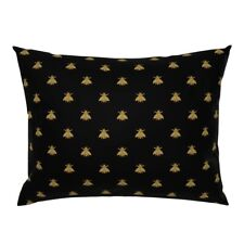 Bees Napoleon Bee Gilt Black Antique Gold Honeybees Pillow Sham by Roostery