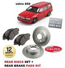 Para Volvo 850 1993-1997 2.0 2.3 2.5 Nuevo Freno Trasero Discos Set + Almohadillas De Disco Kit