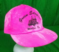 Green Enterprises Trucking Hat Neon Hot Pink Walton Ky Snapback Nylon Cap