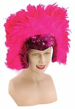 Bristol Novelty Ba816 Deluxe Feather Headdress Pink One Size