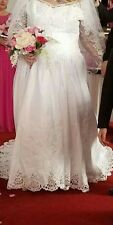 Sweetheart size 20 plus size wedding gown