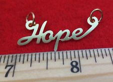 "14KT GOLD EP ""HOPE"" PERSONALIZED NAME PLATE WORD CHARM PENDANT 6160"