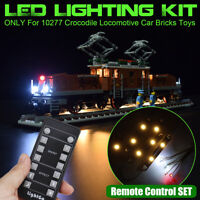 LED Light For LEGO 10277 Crocodile Locomotive Car Bricks Toys Lighting Kit ONLY