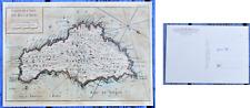 Carte postale, plan de Belle-Île vers 1750