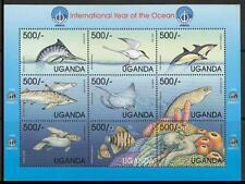 Uganda 1999 9v MS Nature, Birds, Fish, Turtles ocean - E4