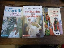 lot de 3 livres de Anne Courtillé : retour à Bellemaison - l'arbre des dames