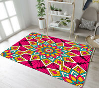 Soft Floor Rug Mat Beautiful Marocco Flower Bedroom Carpet Living Room Area Rugs