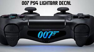 007 playstation ps4 controller light decal sticker vinyl james bond movie