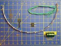 Kit 12 LED/20 cm à câbler 12V éclairage wagon - lamelle JOUEF - HO JOUEF