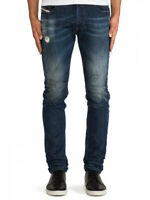 Diesel Herren Slim Skinny Fit Stretch Jeans - Sleenker 0833F - W29, W30 - L34