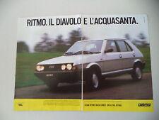 advertising Pubblicità 1984 FIAT RITMO