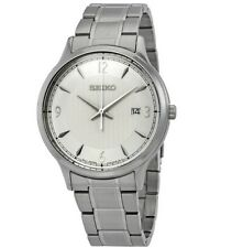 Seiko Men's Silver Dial Bracelet SGEH79P1 Calender 10 BAR Water Resistant Watch