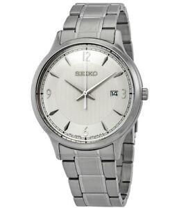 Seiko Men's Silver Dial Bracelet SGEH79P1 Calender 10 BAR Water Resistant Watch