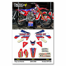 2004 - 2009  HONDA CRF 250 TLD Dirt Bike Graphics kit Motocross Graphics Decal
