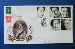 2002 THE GOLDEN JUBILEE FIRST DAY COVER SIGNED BY SIR EDMUND HILLARY