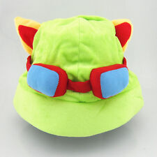 New League of Legends LOL Teemo Light Green Cosplay Cap Hat Costume Game Plush