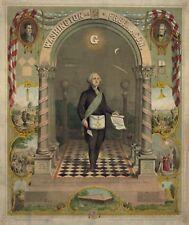 Print George Washington Master Mason Masonic Print Art Poster ring