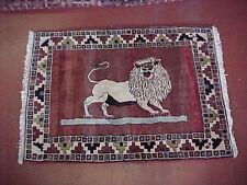 "Vintage Persian Tribal Stately LION  Rug (150) 43"" X 59"""