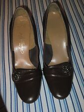 Vintage 1960's Brown Leather Heels by The American Girl Size 8B