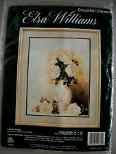 """New listing """"Pastel Roses"""" 14""""x18"""" Crewel Kit by Elsa Williams with Paternayan Yarn - Sealed"""