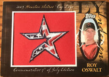 2010 Topps Manufactured Hat Logo Patch Roy Oswalt #Mhr-293 #'d 95/99