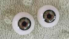 Reborn Baby Round Acrylic Eyes 22mm Meadow Green Doll Making Supplies