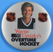 Wayne Gretzky NHL Overtime Table Hockey Game Sales Promotional Button