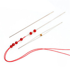 Wholesale 5Pcs Big Eye Curved Beading Needles Easy Thread Jewellery Craft DIY HS