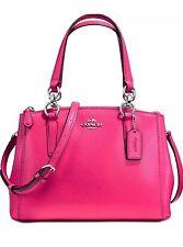 Coach 57265M Crossgrain Leather Mini Christie Carryall Satchel (Amaranth Pink)