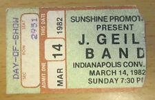 1982 U2 J. Geils Band Indianapolis Concert Ticket Stub October Tour Bono Edge