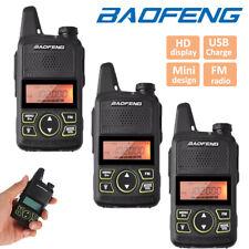 3x Baofeng BF-T1 Mini Walkie Talkies Long Range UHF Two Way Ham Radio + Headsets