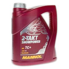 4 (1x4) Liter MANNOL 2-Takt Snowpower Mischöl f. Schneemobile API TC+, JASO FD