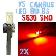 2Ampoule LED T5 5630 Coleur Tableau de Bord Compteur Voiture Habitacle Rouge 2E7