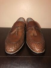 Clarks Brown Leather Slip Ons  Mens Size 7 1/2