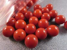 Half Drilled Red Bamboo Coral Round 8mm Beads 10pcs