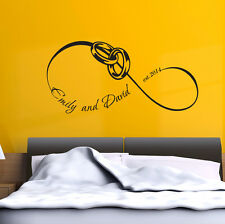 Family Names Wall Decals Love Infinity Vinyl Stickers Bedroom Decor FD174