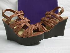 Steve Madden Girl Size 7.5 M Kashka Coral Open Toe Wedges New Womens Shoes