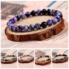 Fashion Men Women Nature Stone Gemstone Beads Healing Reiki Diffuser Bracelets